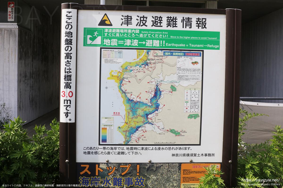 津波発生時の避難場所【葉山の海周辺】