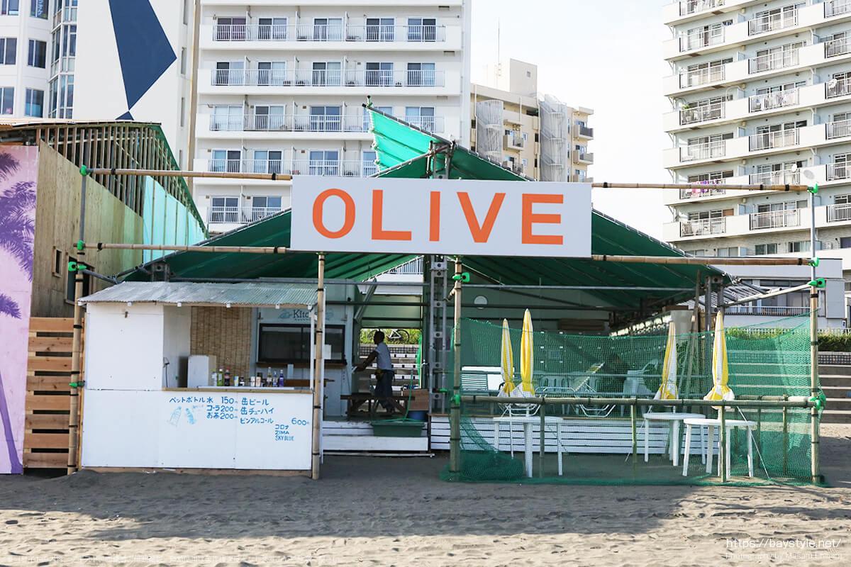 OLIVE、片瀬東浜海水浴場の海の家