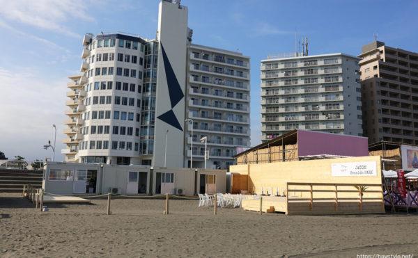 JCOMシーサイドパーク、片瀬東浜海水浴場の海の家