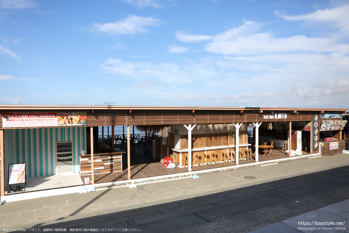 Beach House AJITO(ビーチハウスアジト)(片瀬西浜海水浴場の海の家:2021年7月21日撮影)