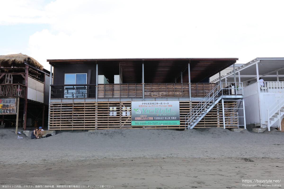 海のリゾート SEA SIDE PARADISE(片瀬西浜海水浴場の海の家:2021年7月21日撮影)