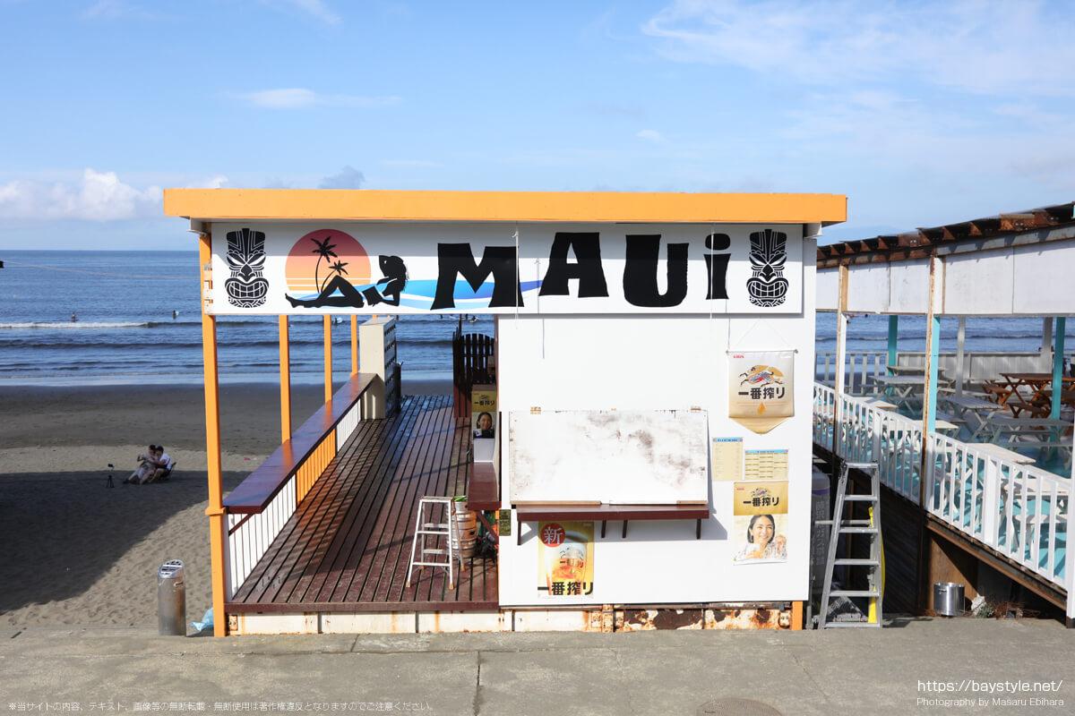MAUi(片瀬西浜海水浴場の海の家:2021年7月21日撮影)