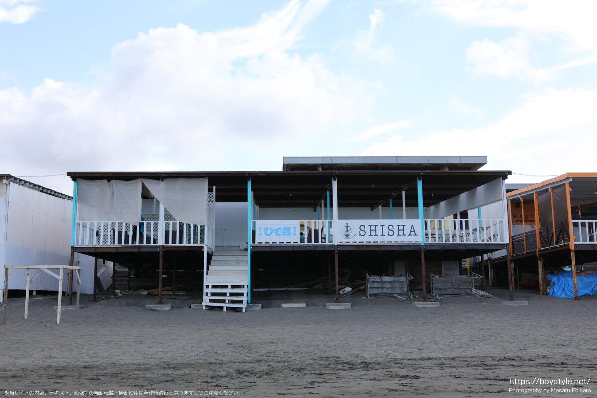 ひで吉(片瀬西浜海水浴場の海の家:2021年7月21日撮影)
