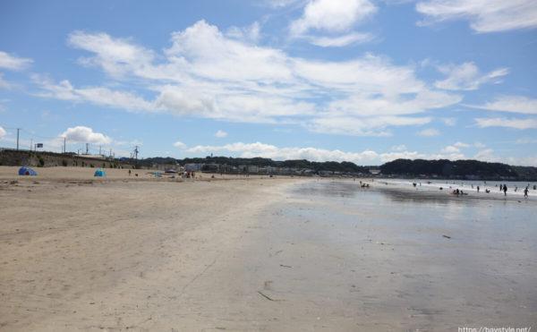 鎌倉由比ヶ浜海水浴場:2021年7月21日撮影