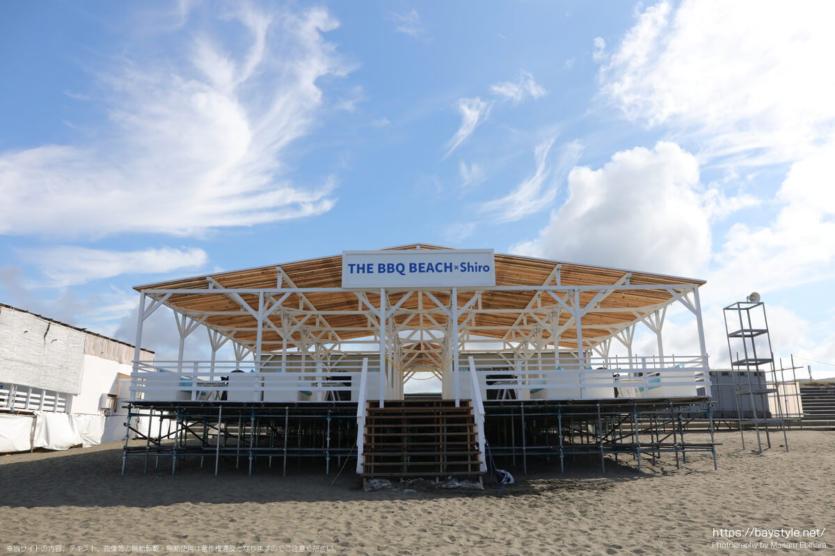 THE BBQ BEACH × Shiro(鵠沼海岸の海の家:2021年7月21日撮影)