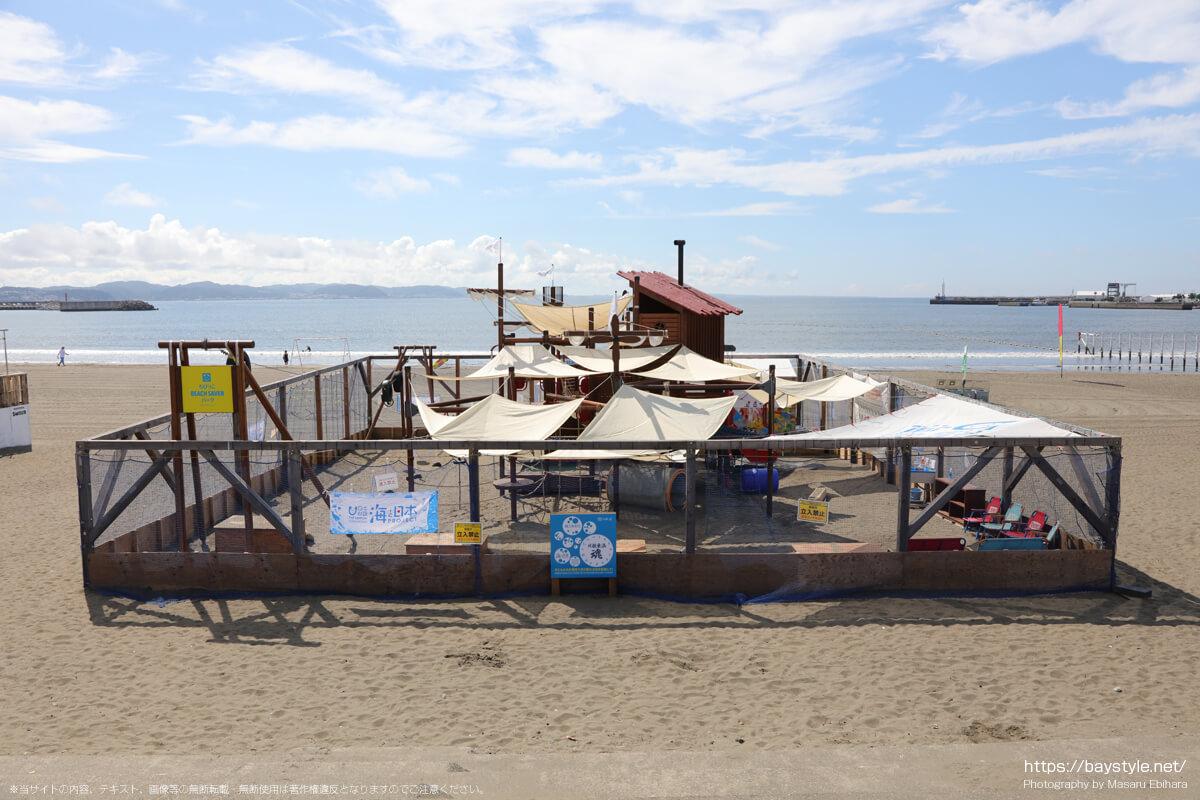 ちびっこBEACH SAVERパーク(片瀬東浜海水浴場の海の家:2021年7月21日撮影)