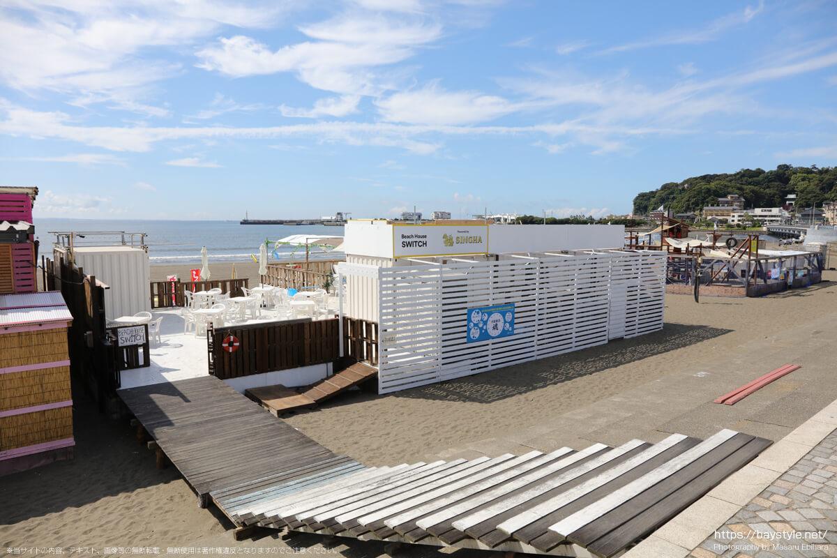 ビーチハウススイッチ(片瀬東浜海水浴場の海の家:2021年7月21日撮影)