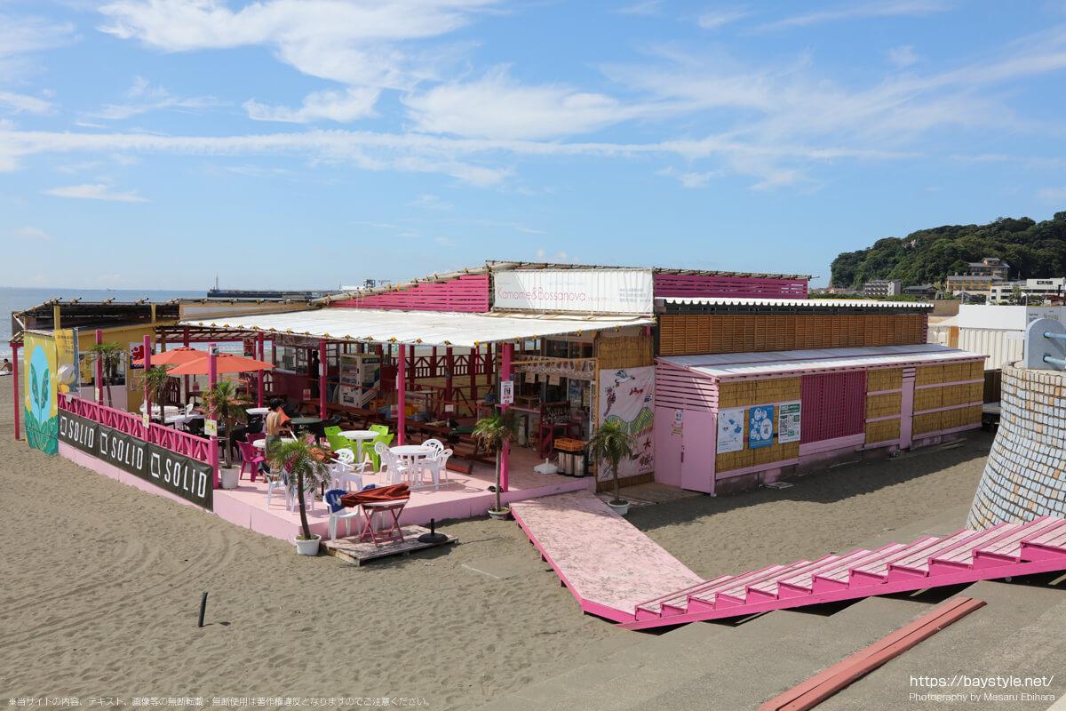 かもめ&ボサノバ(タイサコン)(片瀬東浜海水浴場の海の家:2021年7月21日撮影)