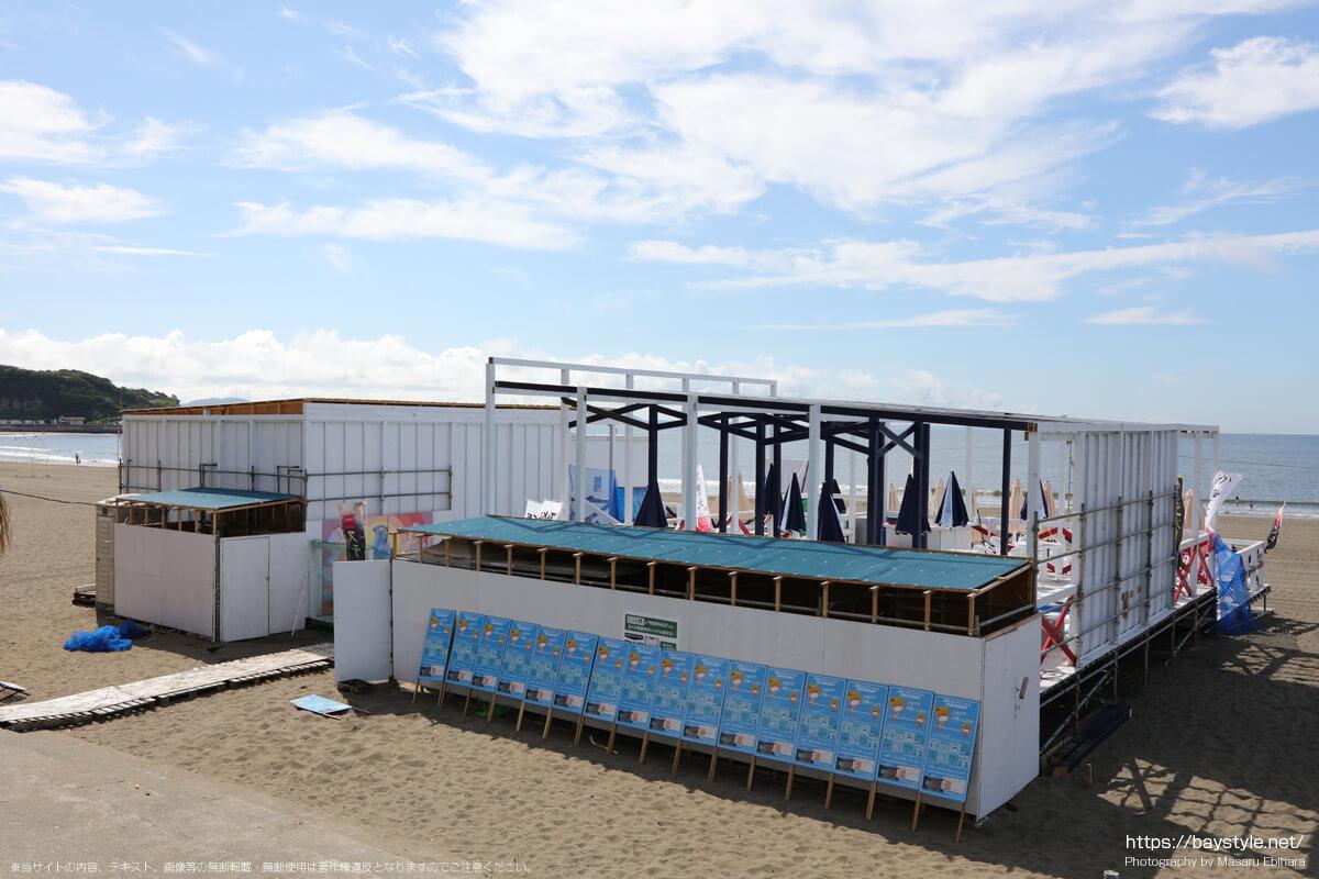 店名不明(片瀬東浜海水浴場の海の家:2021年7月21日撮影)