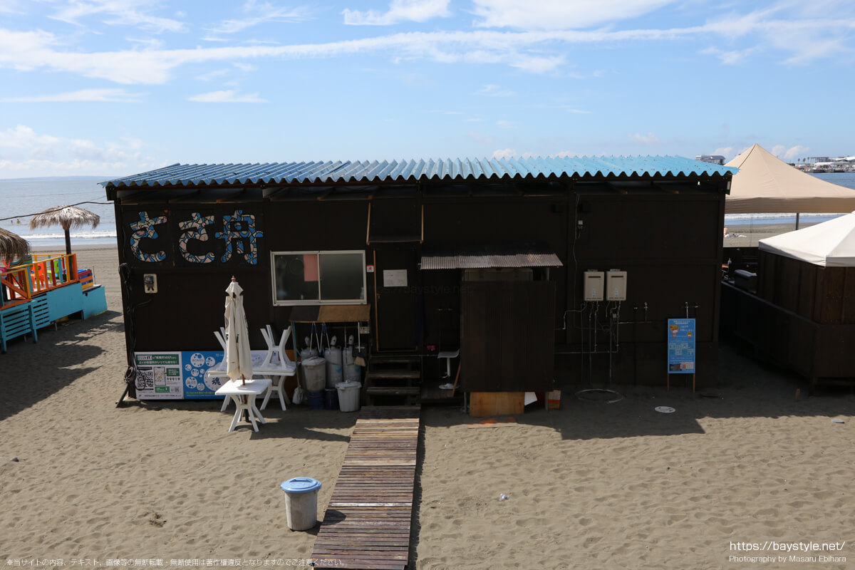 ささ舟(片瀬東浜海水浴場の海の家:2021年7月21日撮影)