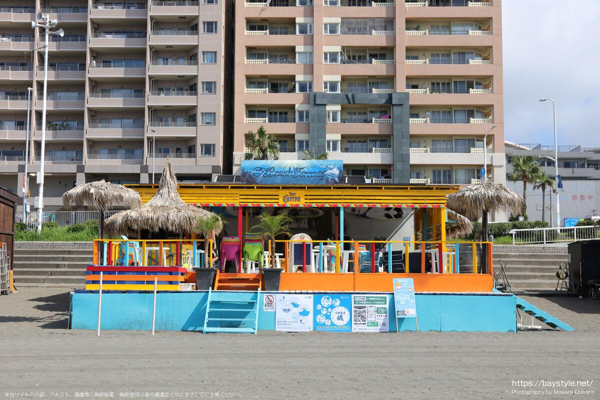 Beach Terace(ビーチテラス)(片瀬東浜海水浴場の海の家:2021年7月21日撮影)