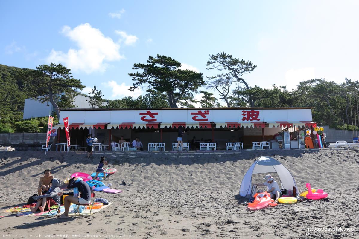 さざ波(一色海水浴場海の家:2021年7月22日撮影)