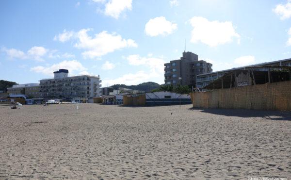 森戸海岸海水浴場海の家:2021年7月22日撮影