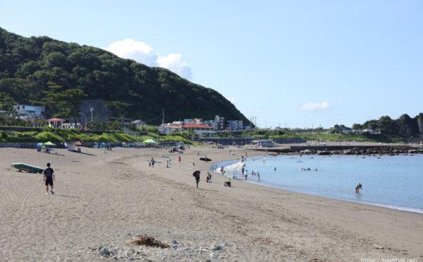 長者ヶ崎、大浜海岸海水浴場の海の家:2021年7月22日撮影