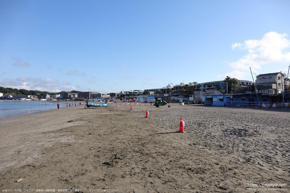 逗子海岸の海の家:2021年7月22日撮影