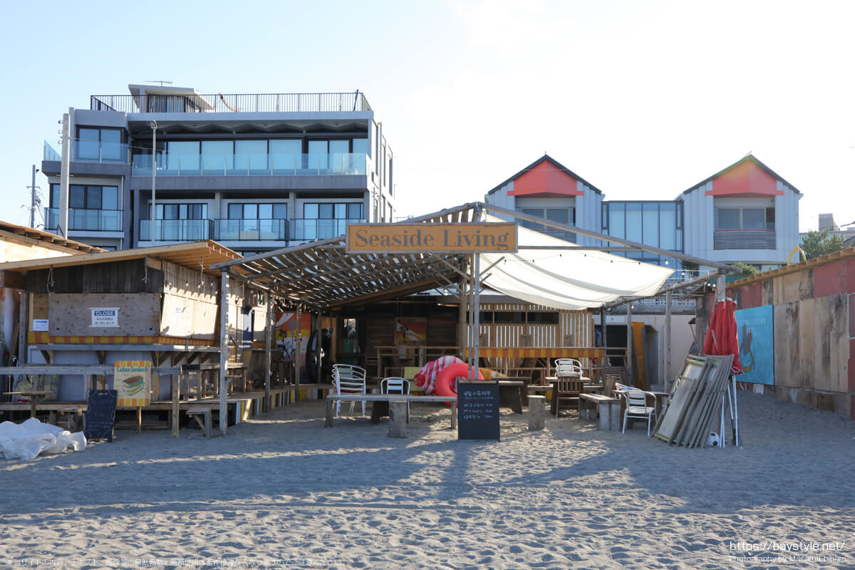 Seaside Living(シーサイドリビング)(逗子海岸の海の家:2021年7月22日撮影)