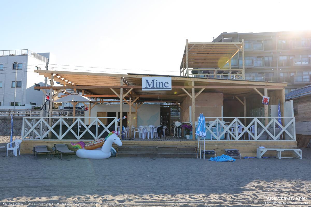 Mine(逗子海岸の海の家:2021年7月22日撮影)