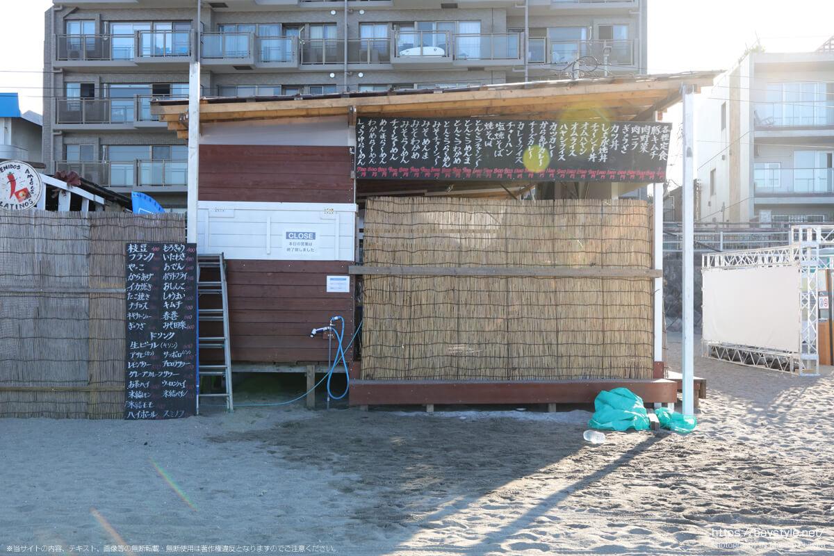 みこし(逗子海岸の海の家:2021年7月22日撮影)