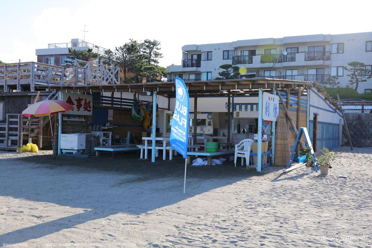 利休(逗子海岸の海の家:2021年7月22日撮影)