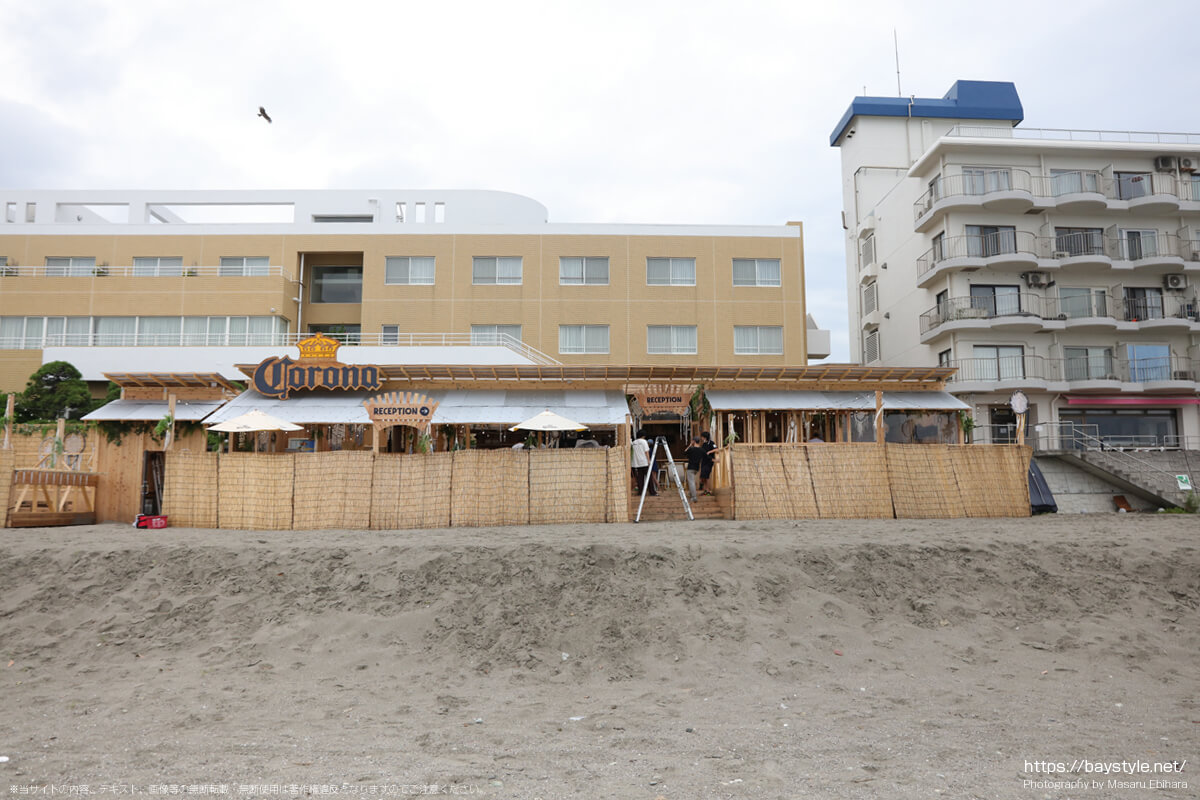 森戸海岸海水浴場海の家(2021年7月6日の様子)